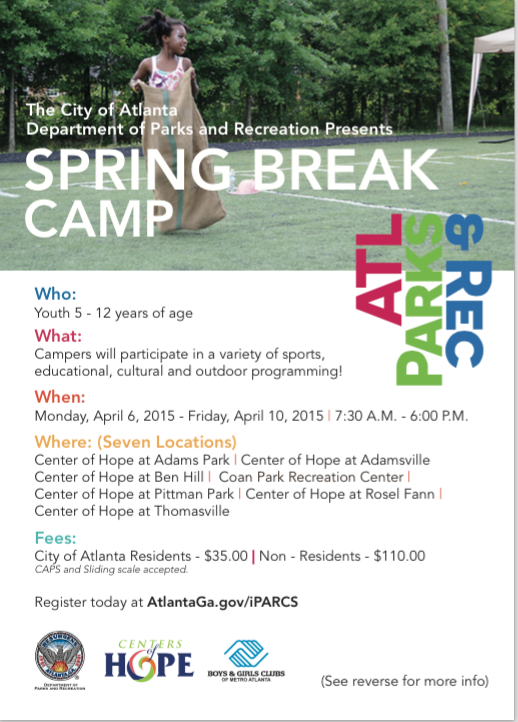 Atlanta Spring Break Camps
