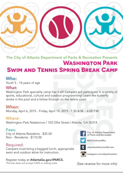 Atlanta Tennis And Swim Spring Break Camp