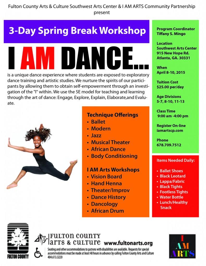 South West Arts Center Spring Break Dance Camp